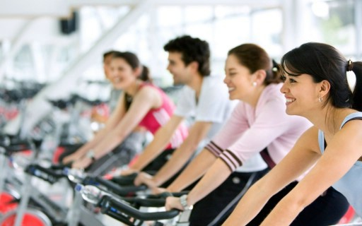 Ride along to the rhythm of powerful music in this group cycle workout class